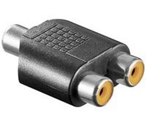 Cinch Y-Audio Adapter Cinch Kupplung