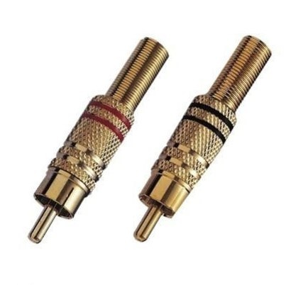 2x Intercell High Quality Cinchstecker